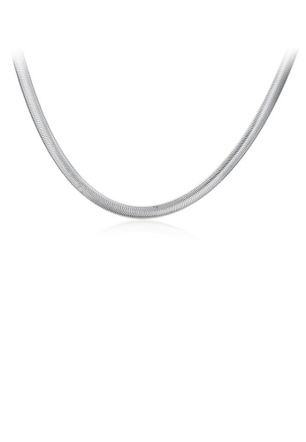 Glamorousky silver Simple Snake Necklace 11ABFACF1A61FAGS_1