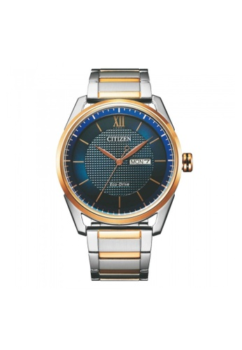 Citizen silver Citizen Eco-Drive AW0086-85L Blue, Rose Gold and Silver Stainless Steel Watch 07307AC9A5FA8CGS_1