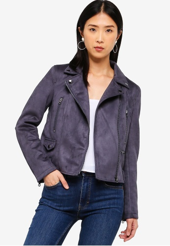 44fade4a Shop French Connection Aimee Suedette Biker Jacket Online on ZALORA  Philippines