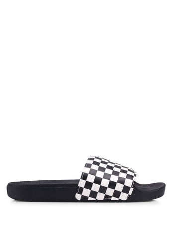 VANS black and white Slide-On Checkerboard AA96FSH080A746GS_1
