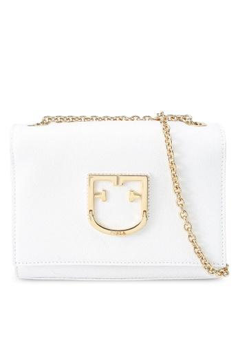 Furla white Viva Mini Pochette Crossbody Bag 1F459ACE7B667FGS_1