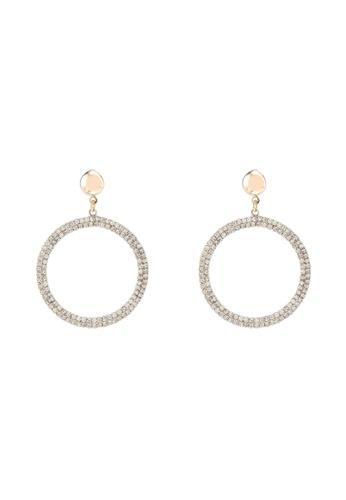 Dandelion 金色 鑽飾耳環 F1725AC90893BFGS_1