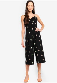 db353ef3d9f0 Something Borrowed black Cami Wrap Wide Leg Jumpsuit B2465AAEF73A3FGS 1