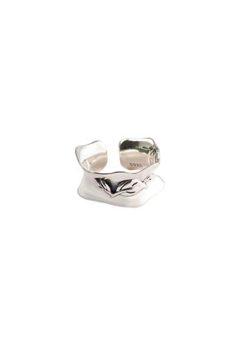 A-Excellence silver Premium S925 Sliver Geometric Ring 131F7ACC9E9313GS_1