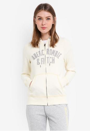 Abercrombie & Fitch gold Long Life Logo Sweatshirt 2A698AA69F9CC5GS_1