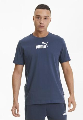 Puma blue Amplified Men's Tee F7F19AA1141D68GS_1