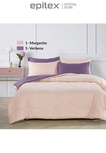 Epitex purple Epitex Homu HC8505 900TC Bedsheet - Fitted Sheet Set (Verbena) 08273HL17E5DE4GS_1