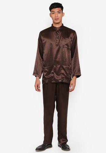 Gene Martino brown Traditional Baju Melayu BD043AA2ABFB91GS_1