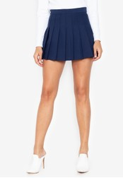 Chase Fashion navy Plain Pleated Skirt 44C76AAEED6F6DGS_1