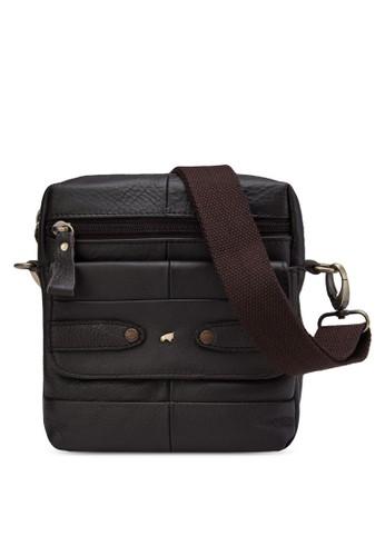 翻蓋前口袋皮革斜背包, 包,zalora時尚購物網的koumi koumi 飾品配件
