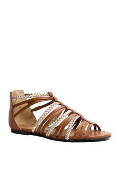 Anacapri Athena Strappy Flat Sandals