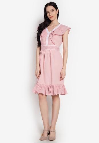 ccicci pink Dulce Eyelet Collar Dress 30B71AAC3A4921GS_1