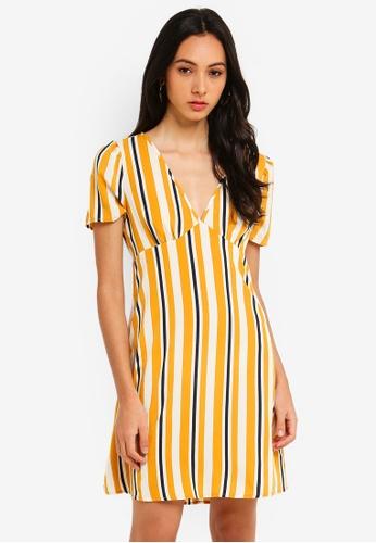 8d79058a86c7e Cotton On yellow Woven Dotti Deep V Puff Sleeve Mini Dress  A5653AA888704EGS_1