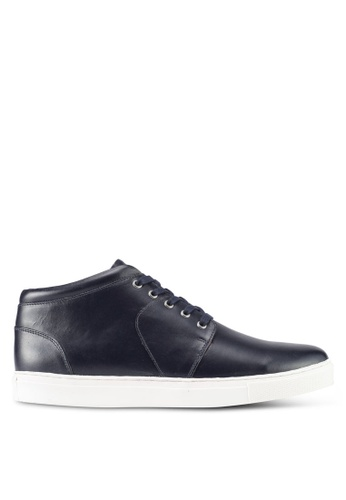 Acuto navy Navy Leather Sneakers AC283SH0SL7YMY_1