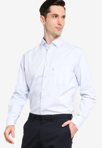 Sacoor Brothers blue Men's Casual Slim Fit Shirt A2BD6AABFDF02AGS_1