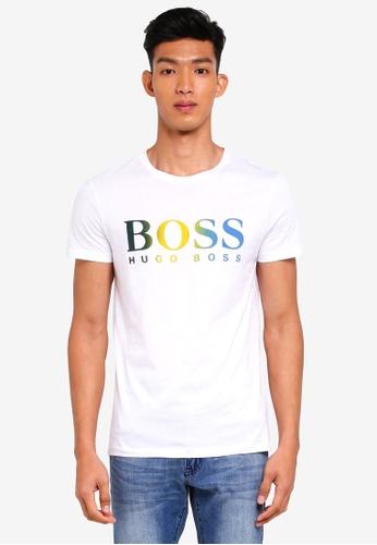 BOSS white Topwork 01 Tee - Boss Casual DA448AA553A415GS_1