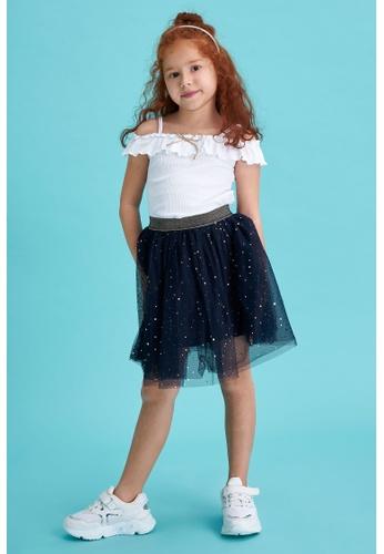 DeFacto navy Girl Knitted Skirt D6A99KA90CA30BGS_1