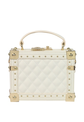 Dazz beige Box Handle Bag - Beige 51EE7AC4EEE857GS_1