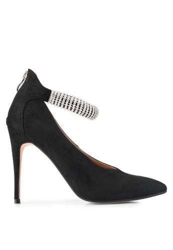 ZALORA black Crystal Strap High Heels 886C7SH2EDF462GS_1