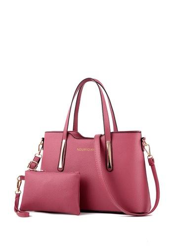 TCWK pink TCWK Set of 2 pcs Red Ladies Handbag TC258AC0SI4DMY_1