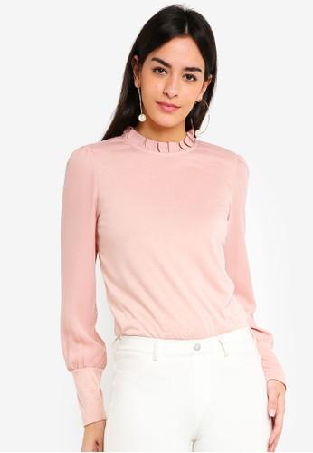 Vero Moda pink Pippa Long Sleeve Top 51FEEAA83208B1GS_1