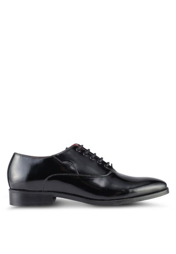 ACUTO black Leather Shoes AC283SH0SL5BMY_1