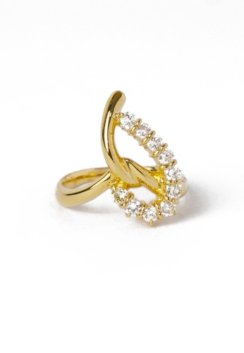CEBUANA LHUILLIER JEWELRY gold 18 Karat Yellow Gold Lady Ring With Diamonds 11C95ACCE7C864GS_1