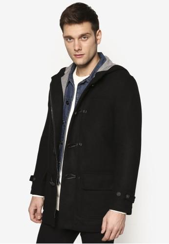 Duffle 牛角套扣zalora taiwan 時尚購物網連帽外套, 服飾, 休閒外套及風衣