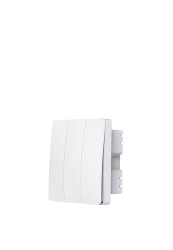 UKGPro KinSwitch 白色1鍵RF+WiFi無線一體化智能開關,室內室外防水防塵防漏電改裝安裝無須電池無須佈線隨意貼RF433無線發射訊號電燈窗簾抽氣扇場景燈制雙控多控首選(U-EWS0354-W) 97D1BHLA20AC73GS_1