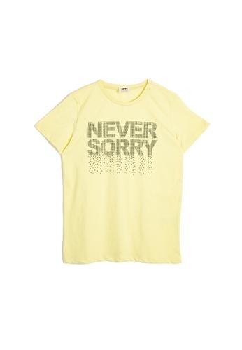 KOTON yellow Tshirt Ss A6818KA36FDD05GS_1