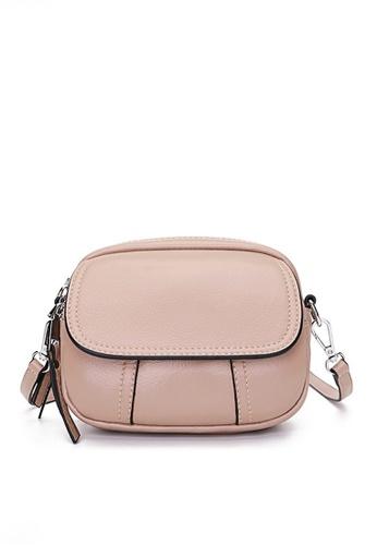 Twenty Eight Shoes pink VANSA Retro Small Round Crossbody Bag VBW-Cb90305 FEA4CAC5E34E8DGS_1
