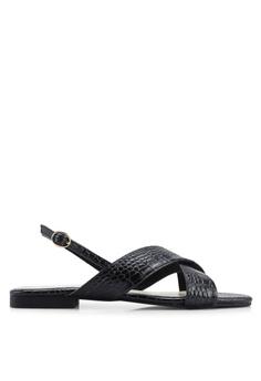 premium selection 892fc 90e72 Nelissa Hilman for ZALORA black Aria Slingback Sandals 5C3C7SHFE8D13EGS 1