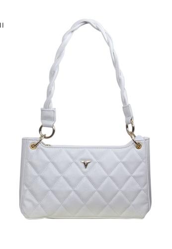 Verchini white Verchini Textured Panelled Shoulder Bag AE7DAACE2511BDGS_1