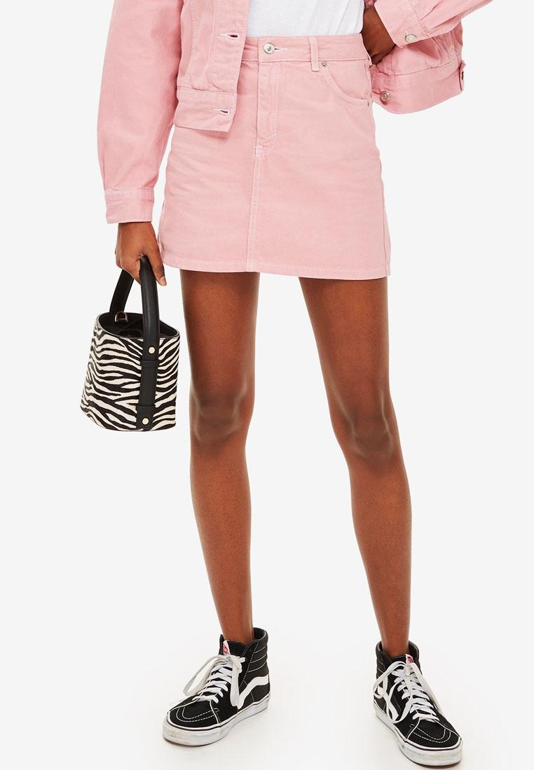 8eaf2f249 Sugar Denim Skirt Pink Pink TOPSHOP S0UPwxP-klausecares.com