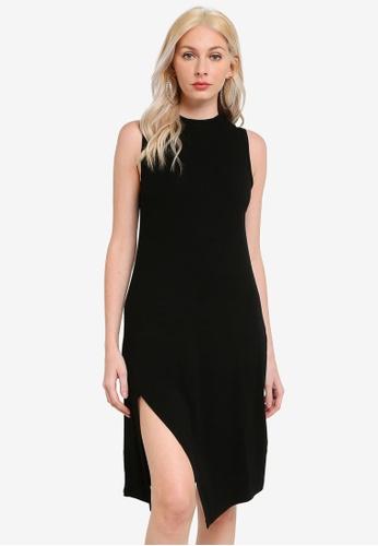 Mink Pink black Emmy High Neck Midi Dress EE853AACED197BGS_1