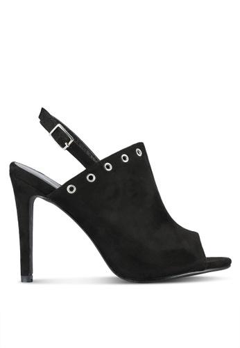 Something Borrowed black Slingback Bootie Heels 81348SH4BBAFD6GS_1