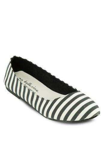 條紋平底鞋, 女鞋, esprit taiwan芭蕾平底鞋