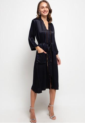 The Ocean Bali black Imelda Silk Dress 0AF14AA665F079GS_1