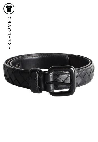 Bottega Veneta black Pre-Loved bottega veneta Black Intrecciato Belt F029DACD01CA80GS_1