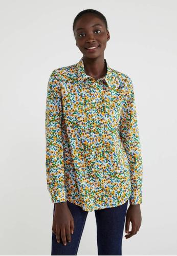 United Colors of Benetton multi Printed Shirt CC113AA8B74EF9GS_1