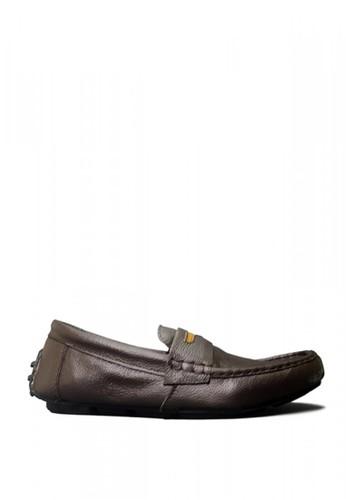 D-Island brown D-Island Shoes Casual Slip On Oxford Genuine Leather Dark Brown CF232SH886A8EDGS_1