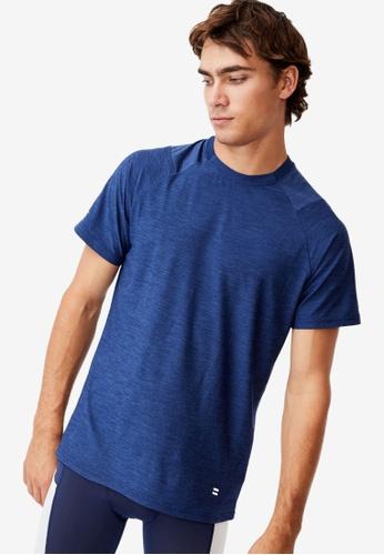 Cotton On navy Performance Active Tech T-Shirt 36DB3AA7C7632FGS_1