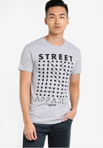 !Solid grey Harpur Graphic T-Shirt SO701AA81WQKMY_1