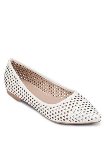 沖孔尖頭平底鞋, 女鞋, zalora 內衣芭蕾平底鞋