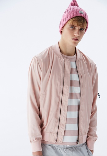 Life8 pink Casual Retro Classic MA1 Bomber Jacket-10043-Pink CEBD1AA2323655GS_1