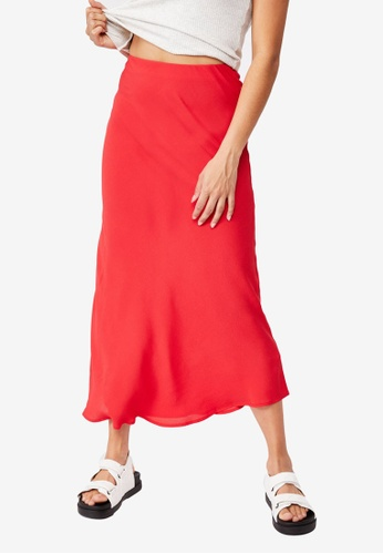 Cotton On red All Day Slip Skirt CA3E8AA2A8030FGS_1