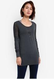 Cotton On black Coar Seamless Long Sleeve Tee CO372AA0S4Y1MY_1
