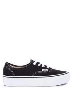 35a8edf193a VANS black Authentic Platform 2.0 Sneakers A1A7ESHDF9B99FGS 1