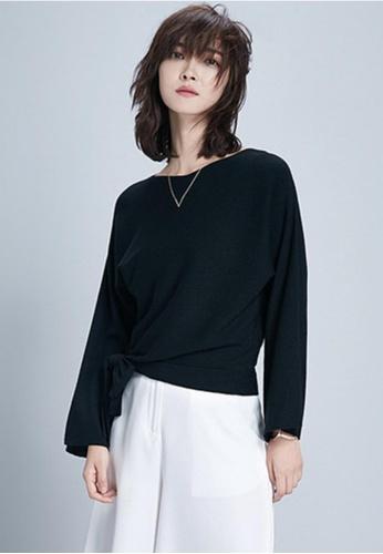 Sunnydaysweety black S/S Little Bow Comfort Long Sleeve Top A0106151BK 75CFFAA8D5E26AGS_1