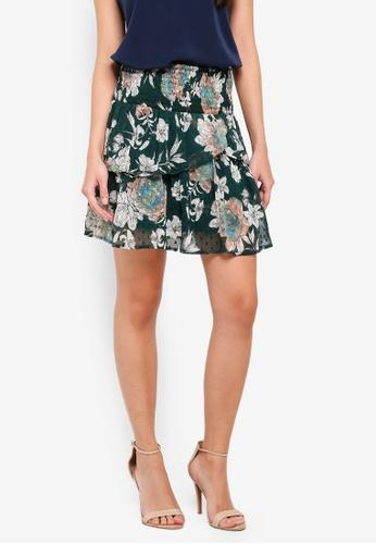 Vero Moda green Maise Smock Skirt 1E8F0AABA4A935GS_1